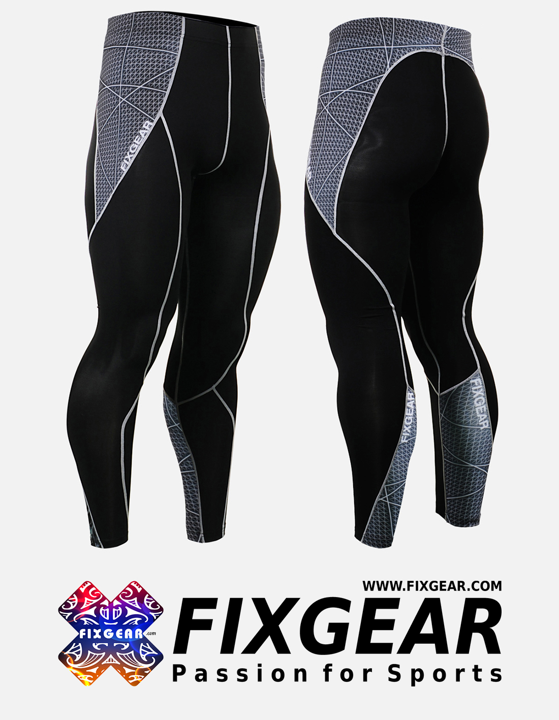 FIXGEAR P2L-B70 Compression Leggings Pants