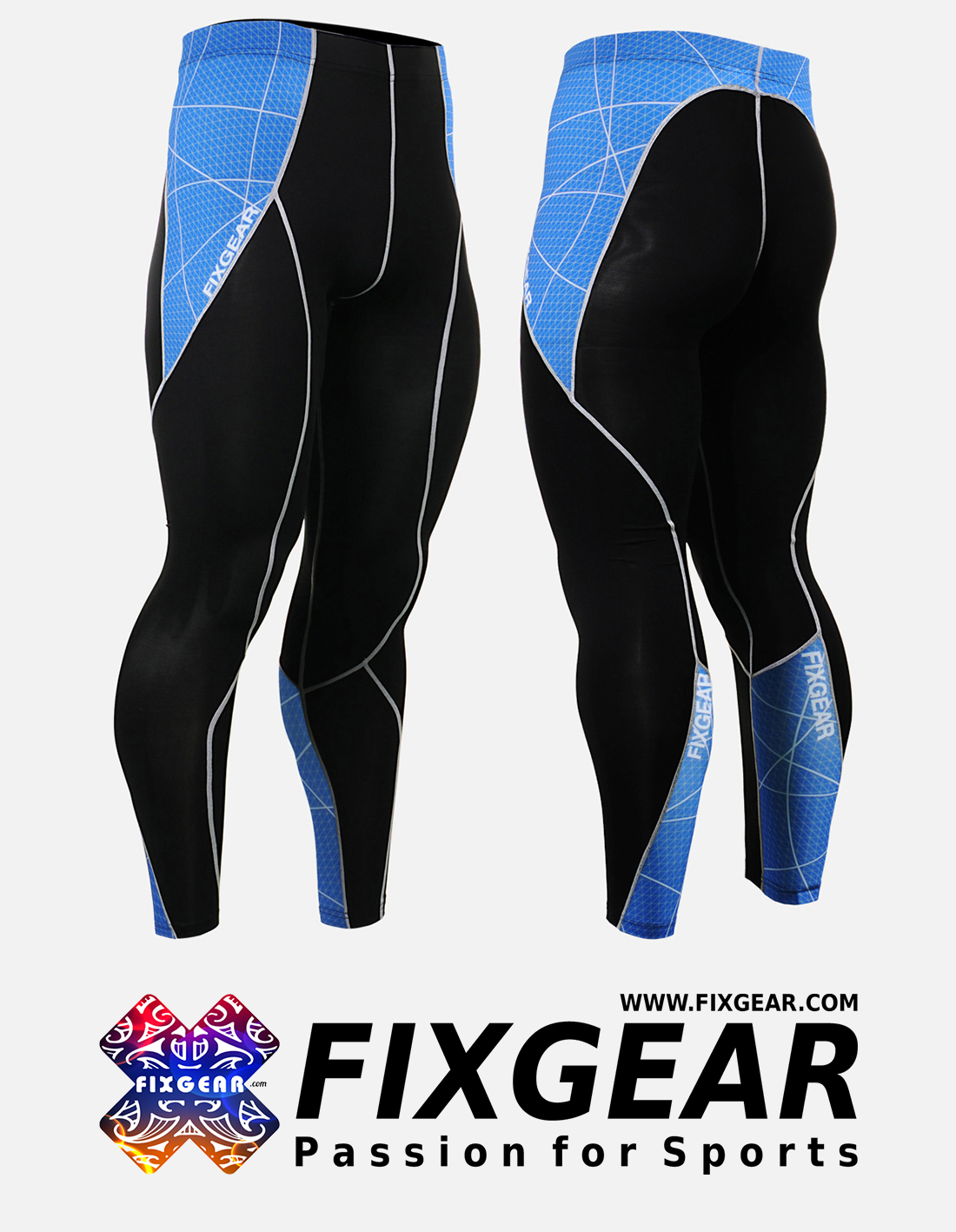 FIXGEAR P2L-B70B Compression Leggings Pants