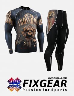 FIXGEAR CFL-P2L-B27 Set Compression Base Layer Shirt & Legging Pants