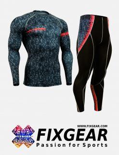 FIXGEAR CFL-P2L-G6 Set Compression Base Layer Shirt & Legging Pants