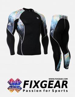 FIXGEAR C2L-P2L-B42 Set Compression Base Layer Shirt & Legging Pants