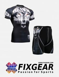FIXGEAR CFS-P2S-B18 Set Compression Base Layer Shirt & Compression Drawer Shorts