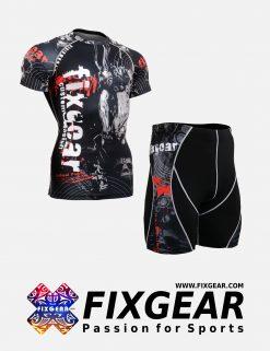 FIXGEAR CFS-P2S-B30 Set Compression Base Layer Shirt & Compression Drawer Shorts