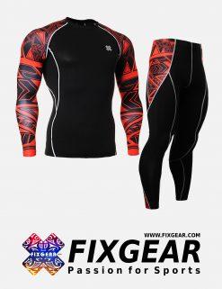 FIXGEAR CPD-P2L-B2 Set Compression Base Layer Shirt & Legging Pants