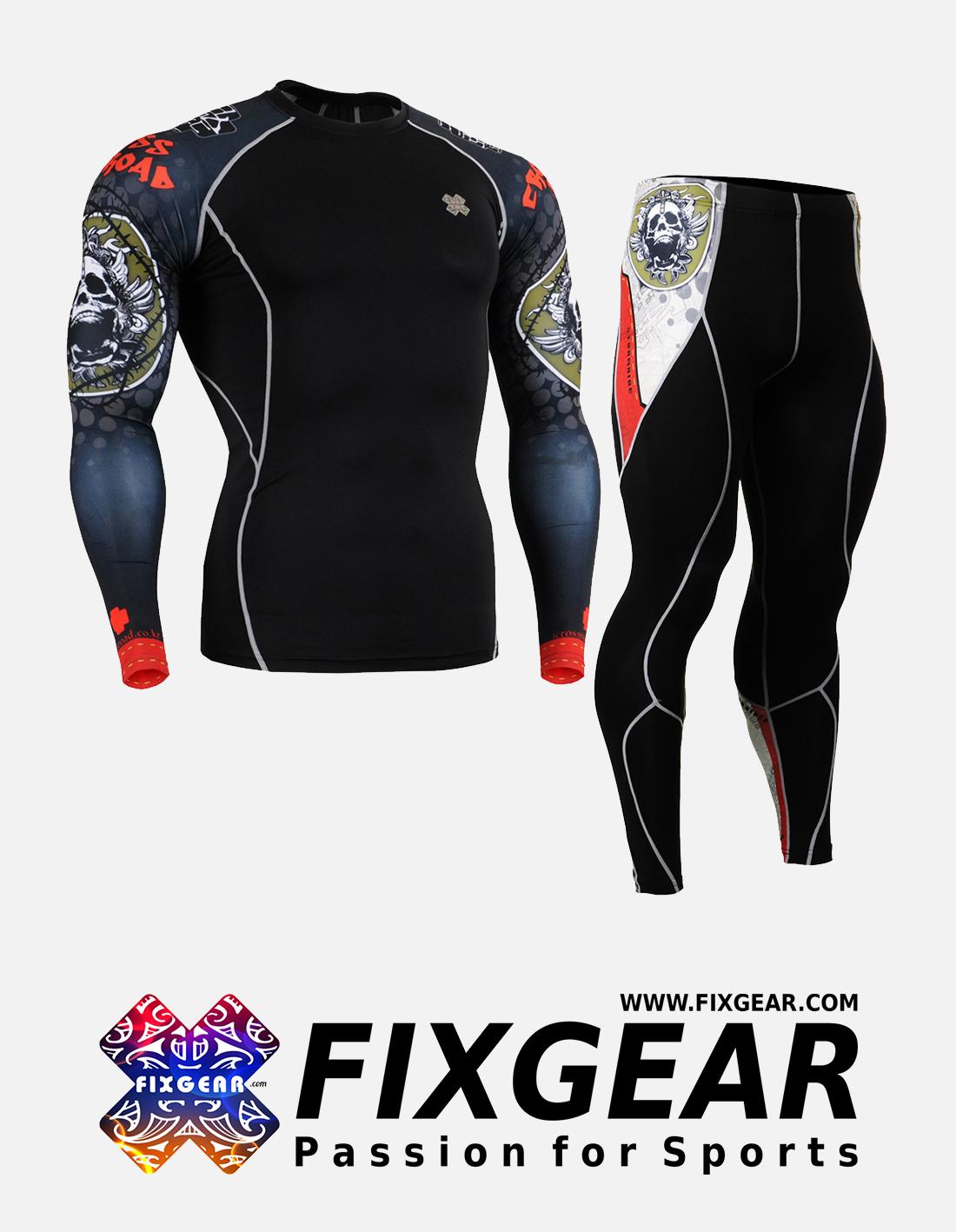 FIXGEAR CPD-P2L-B5 Set Compression Base Layer Shirt & Legging Pants
