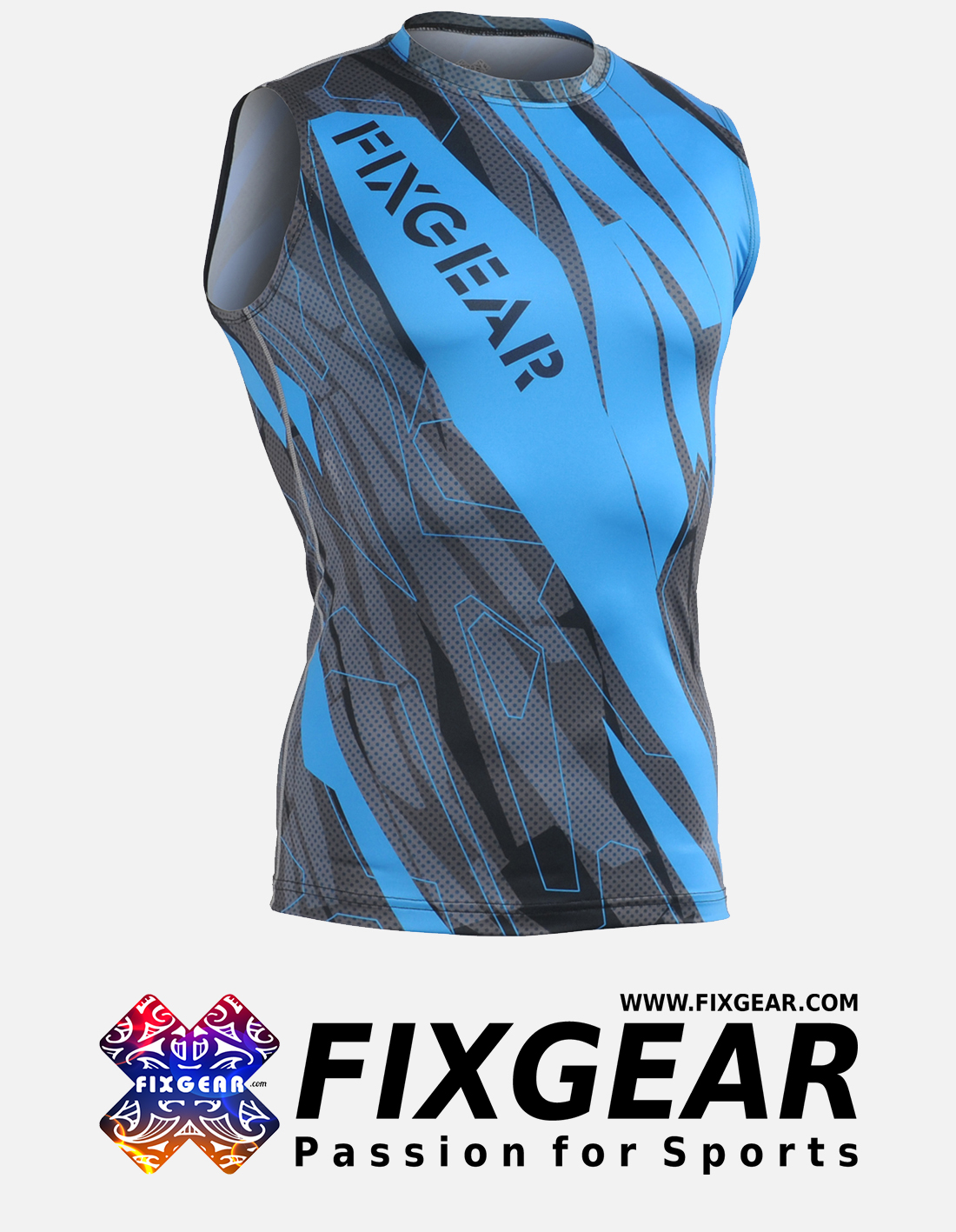 FIXGEAR CFN-H68G Compression Base Layer Sleeveless Shirt