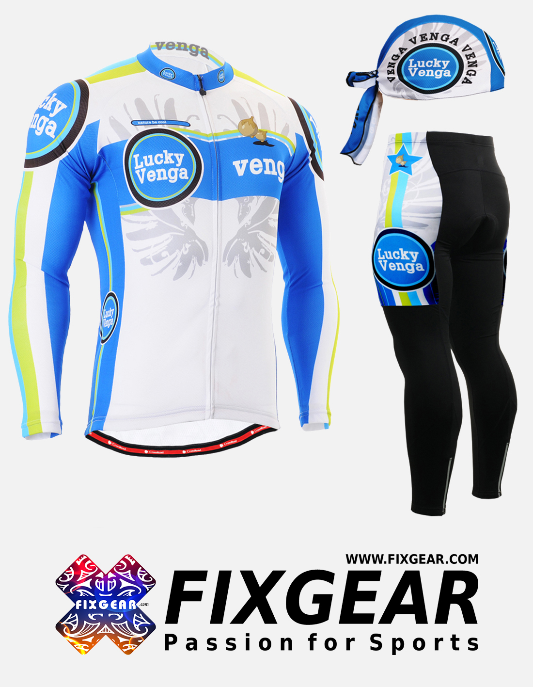 FIXGEAR CS-G201 Set Cycling Jerseys & Padded Pants