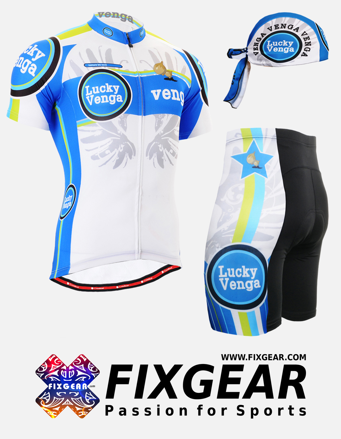 FIXGEAR CS-G202 Set Cycling Jerseys & Padded Shorts