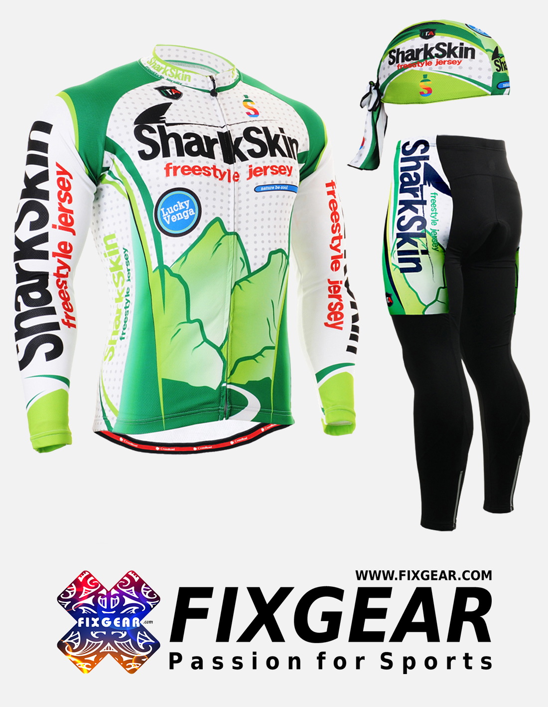 FIXGEAR CS-G301 Set Cycling Jerseys & Padded Pants