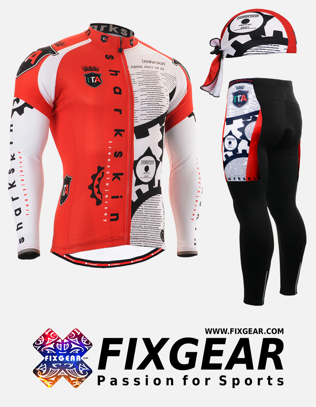 FIXGEAR CS-G401 Set Cycling Jerseys & Padded Pants