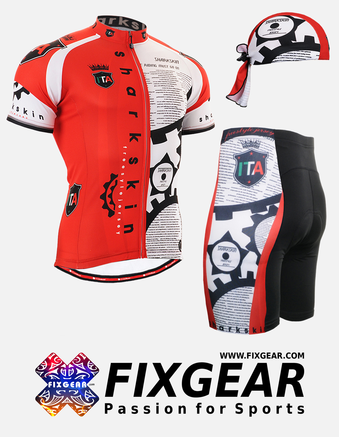 FIXGEAR CS-G402 Set Cycling Jerseys & Padded Shorts