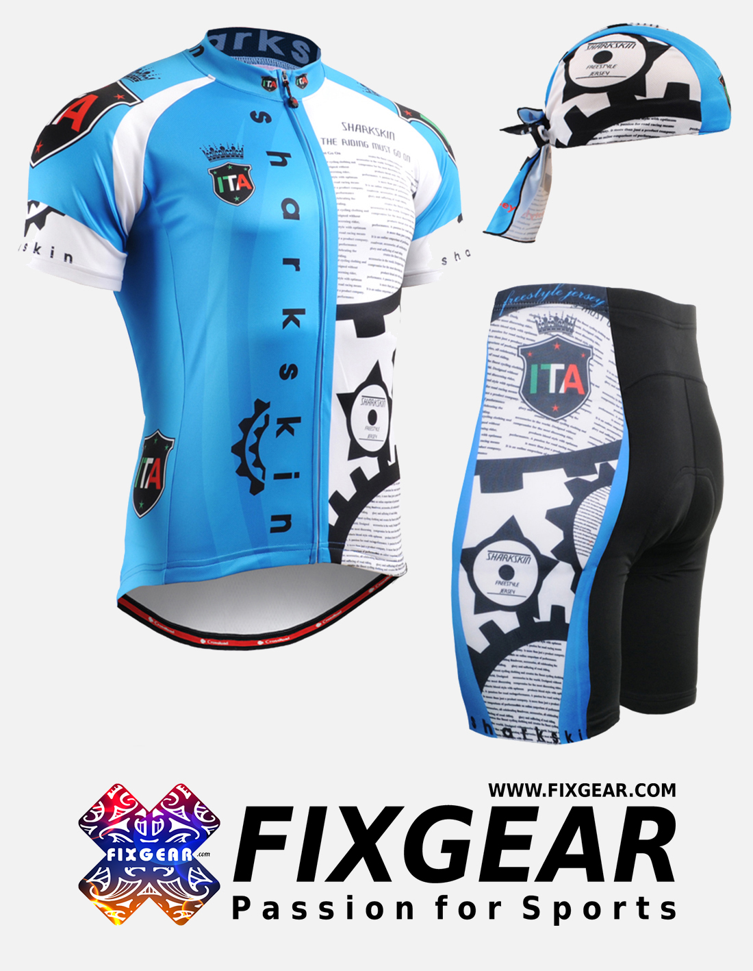 FIXGEAR CS-G502 Set Cycling Jerseys & Padded Shorts
