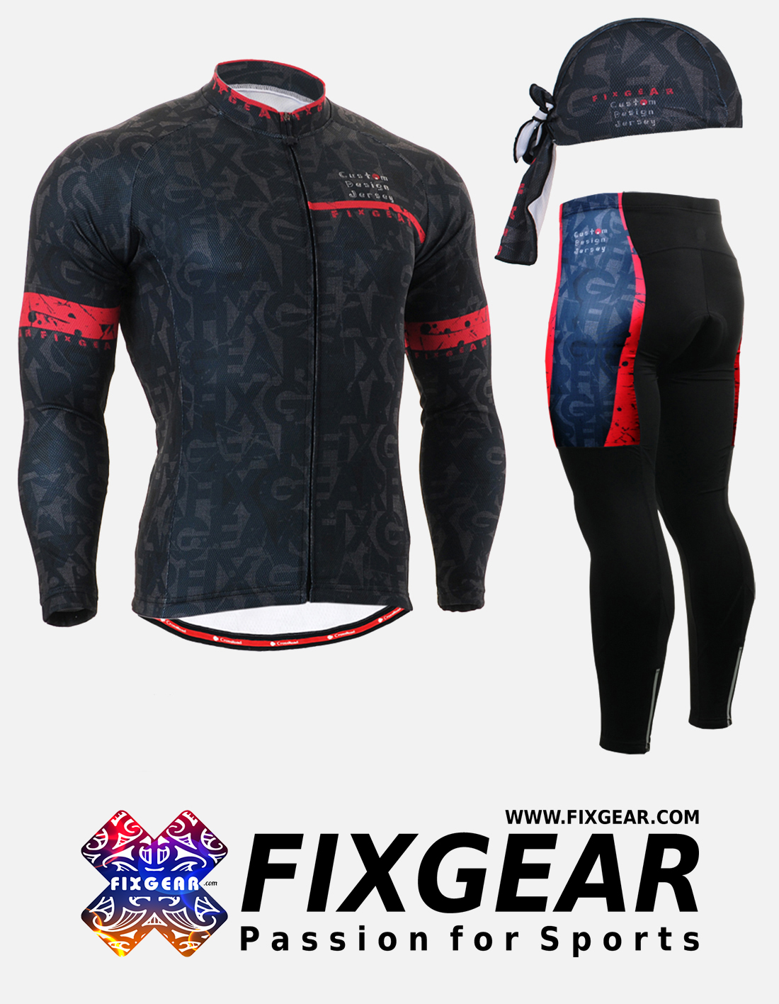 FIXGEAR CS-G601 Set Cycling Jerseys & Padded Pants