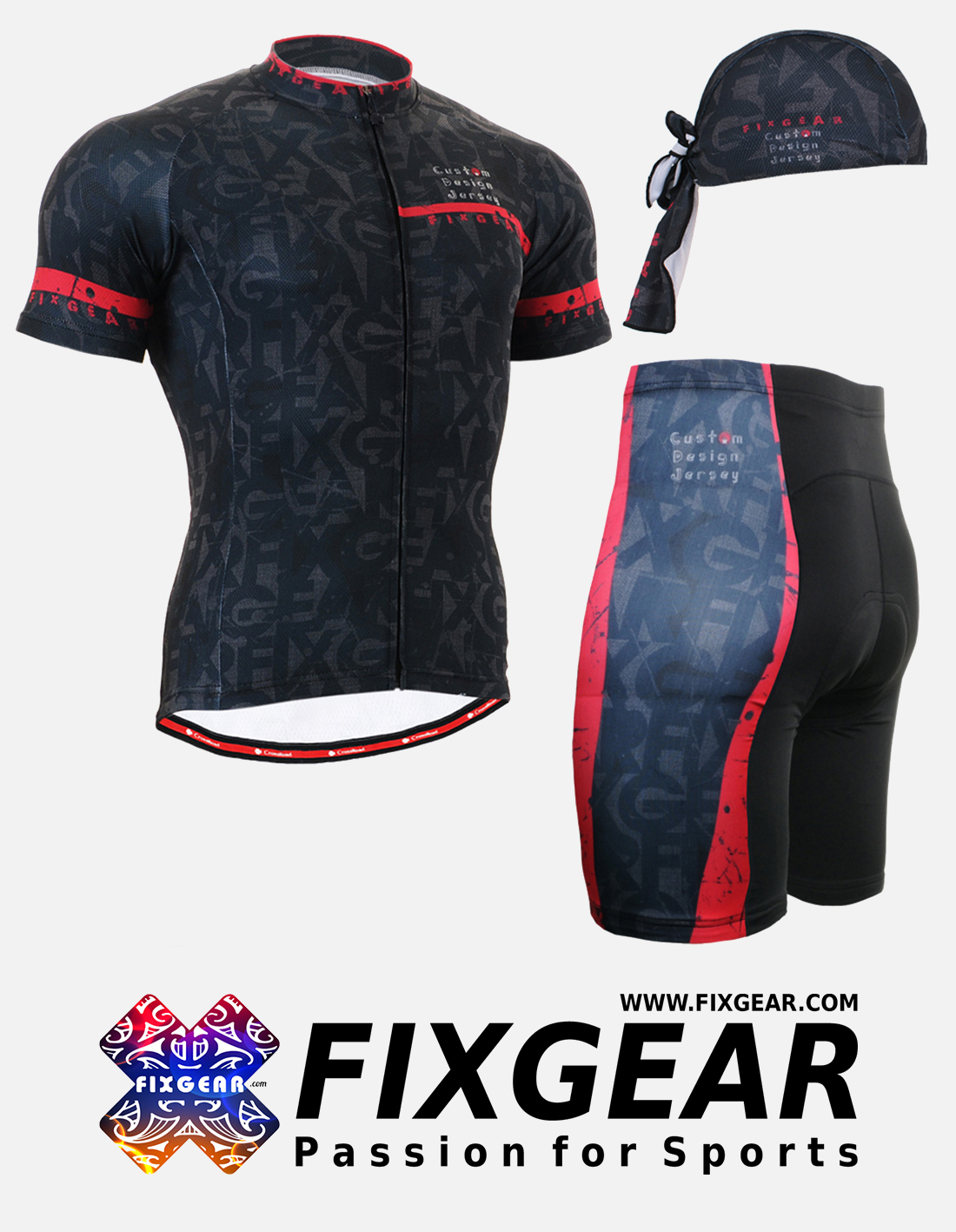 FIXGEAR CS-G602 Set Cycling Jerseys & Padded Shorts