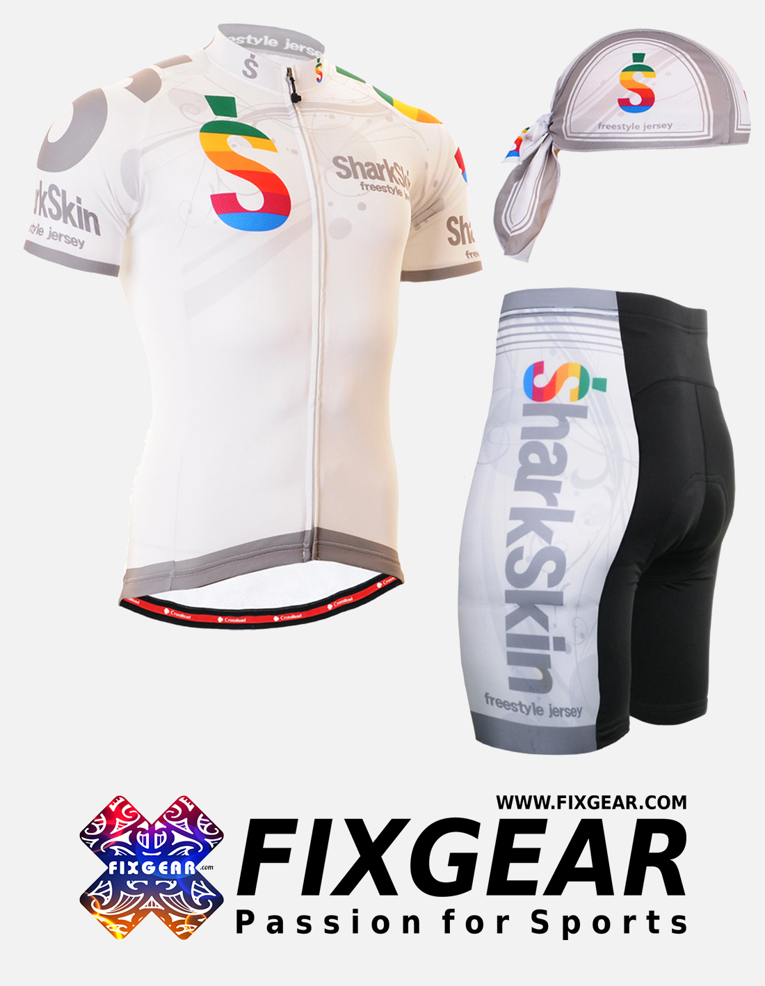 FIXGEAR CS-G702 Set Cycling Jerseys & Padded Shorts