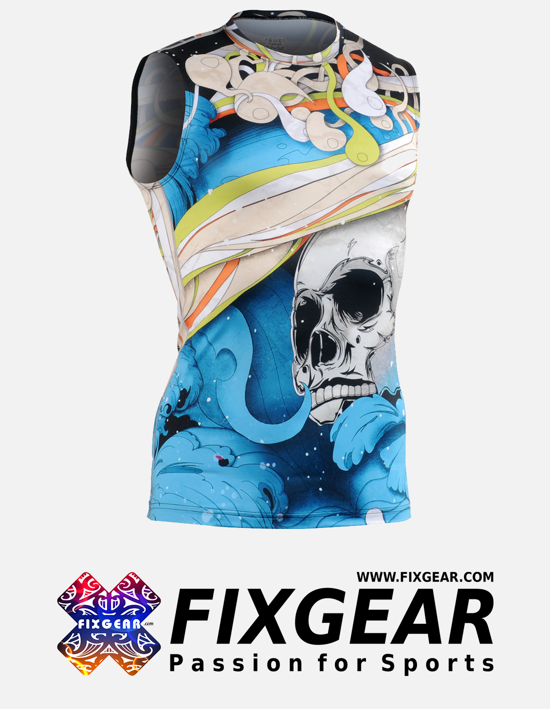 FIXGEAR CFN-H19B Compression Base Layer Sleeveless Shirt