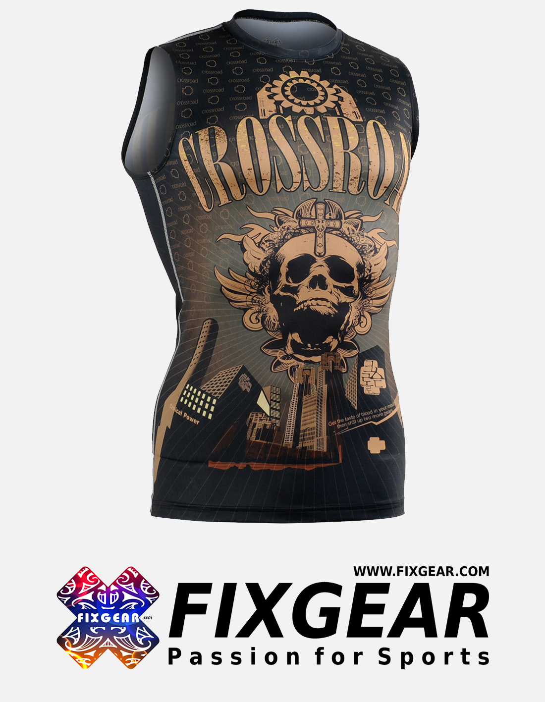 FIXGEAR CFN-H27 Compression Base Layer Sleeveless Shirt