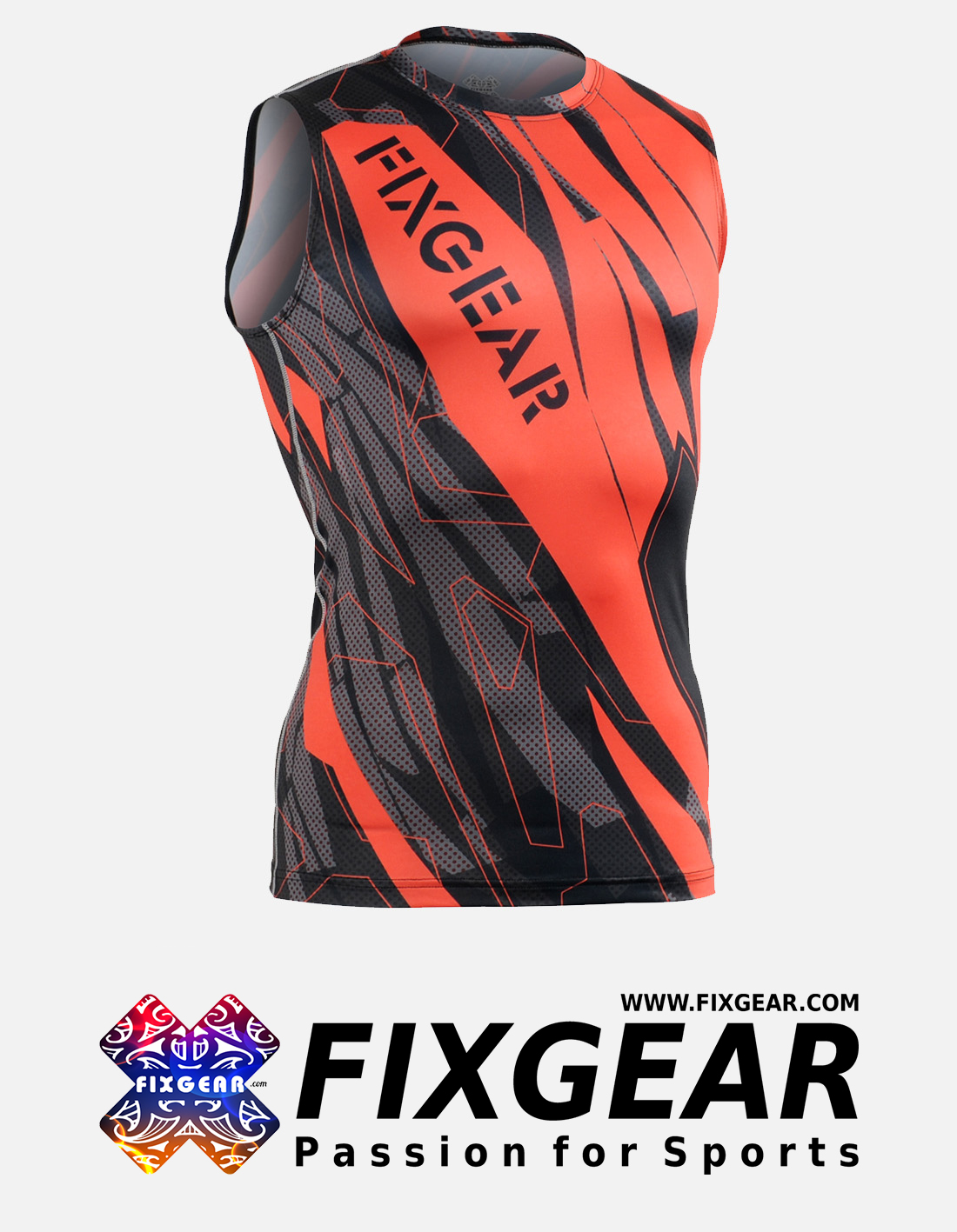 FIXGEAR CFN-H68 Compression Base Layer Sleeveless Shirt