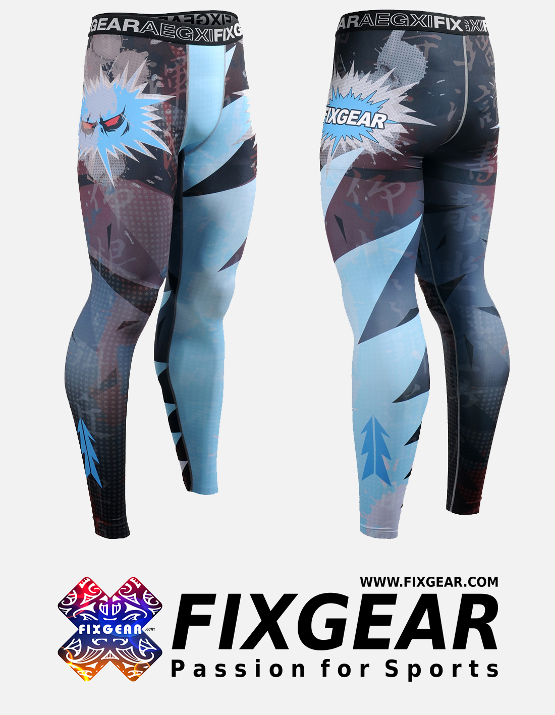 FIXGEAR FPL-78 Compression Leggings Under Training Tights Base layer Pants MMA